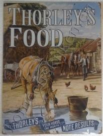 metalen wandbord thorley's food boerderij 30-40 cm