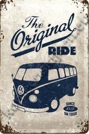 metalen wandplaat VW bus T1, the original ride 20-30 cm