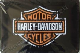 metalen reclamebord Harley Davidson Motor Cycles 20-30 cm