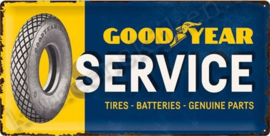 metalen reclamebord goodyear service 25-50 cm