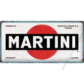 metalen reclamebord Martini 25x50 cm