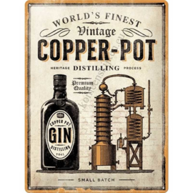 metalen reclamebord gin copper pot 30x40 cm