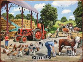 metalen wandbord Nuffield farm 30x40 cm