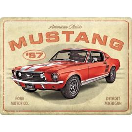 Metalen wandplaat Ford Mustang 1967 30x40 cm