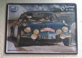 blikken wandbord Renault Alpine A 110  30x40 cm