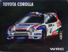 metalen wandplaat Toyota Corolla WRC rally 30x40 cm