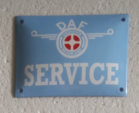 emaille bord DAF service 10x15 cm