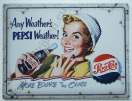 blikken muurbord pepsi Any weather's pepsi weather! 30-40 cm