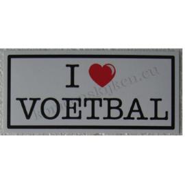 sticker i love voetbal