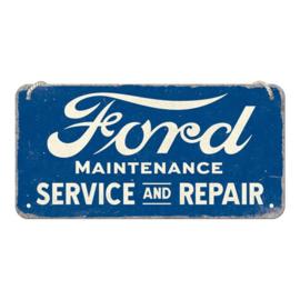 Metalen wandplaat Ford Service and Repair 10 x 20 cm