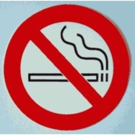 sticker verboden te roken 10 cm