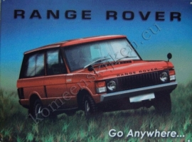 metalen wandplaat range rover 30-40 cm