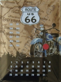 eeuwig durende kalender route 66 30-40 cm..