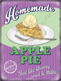 metal wall sign apple pie 30-40 cm