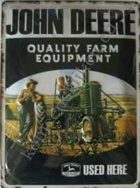 metalen reclamebord john deere quality farm equipment 30-40 cm