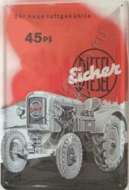 metalen reclamebord eichner 30-40 cm.
