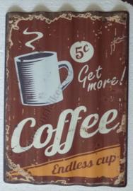 metalen gegolfd bord coffee 38,5-40 cm