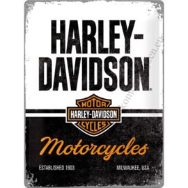 metalen wandplaat Harley Davidson Motorcycles 30x40 cm