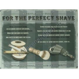 metalen wandplaat the perfect shave 30-40 cm