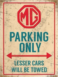 metalen wandplaat MG Parking only 15x20 cm