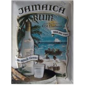 metalen wandbord jamaica rum 15-20 cm