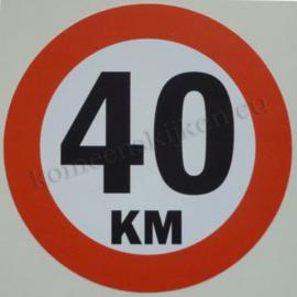 sticker 40 km 14 cm