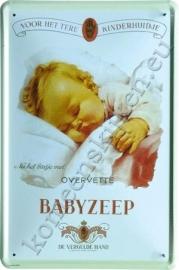 metalen reclamebord overvette babyzeep 20-30 cm