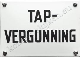 Emaille bord tapvergunning