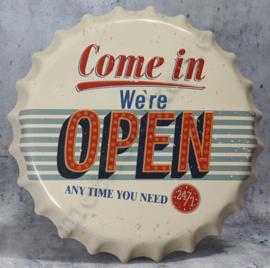 blikken kroonkurk come in we're open 40 cm
