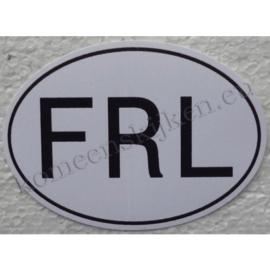 ovale sticker friesland 8,8 cm bij 6,4 cm