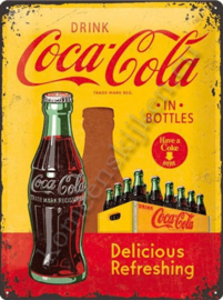 metalen wandbord coca cola kratje 30-40 cm