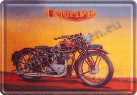 metalen ansichtkaart triumph 10-14 cm