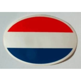 NL sticker ovaal nederlandse vlag 12,7 bij 8,7 cm