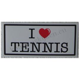 sticker I love tennis