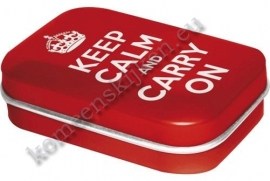 mint box keep calm and carry on