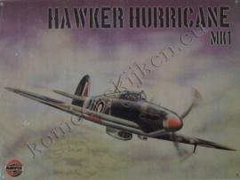 metalen wandplaat hawker hurricane 30-40 cm