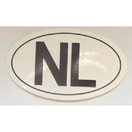 NL sticker ovaal 8 bij 4,8