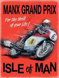 blikken wandplaat manx Isle of Man 30x40 cm
