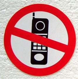 sticker verboden mobiel te bellen 10 cm