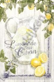 metalen wandbord limonade au citron 20-30 cm