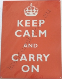 wandbord keep calm and carry on 30-40 cm