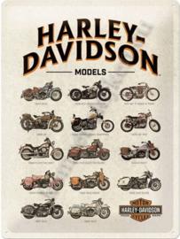 metalen wandplaat harley davidson models 30-40 cm