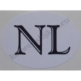 sticker ovaal NL klassiek 9 bij 6,5 cm