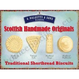 wandplaat scottish biscuits 30-40 cm