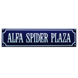 emaille straatnaambord alfa spider plaza