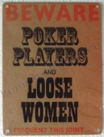 vlak bord beware poker players 15-20 cm