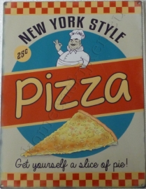 metalen wandbord pizza 30-40 cm