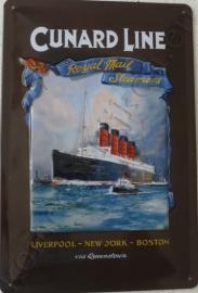 metalen wandbord cunard line 20-30 cm