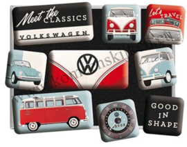 magneetset Volkswagen, meet the classics