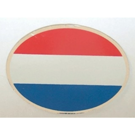 NL sticker ovaal nederlandse vlag 11 bij 8 cm